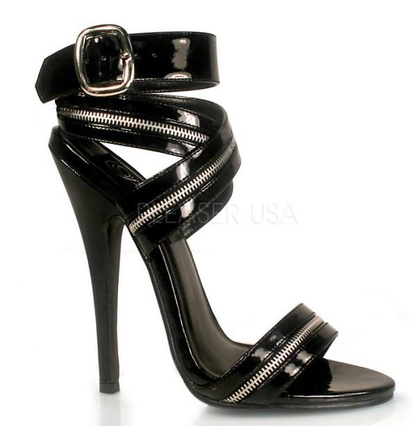 pleaser domina zipper heels