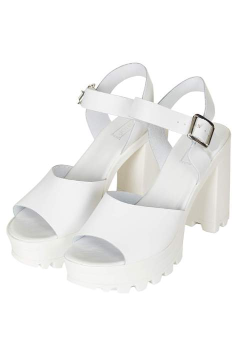 Chunky Sole White Platforms