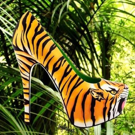 Jungle high heels