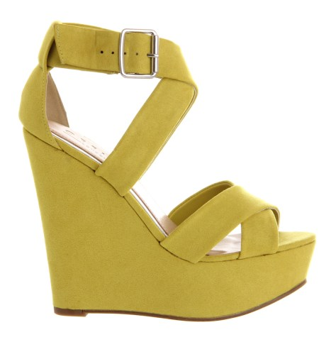 Yellow Wedge Shoe