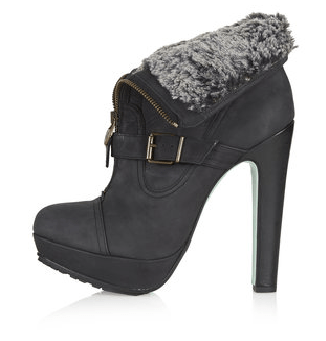 platform furry boots