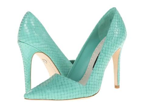 green stilettos