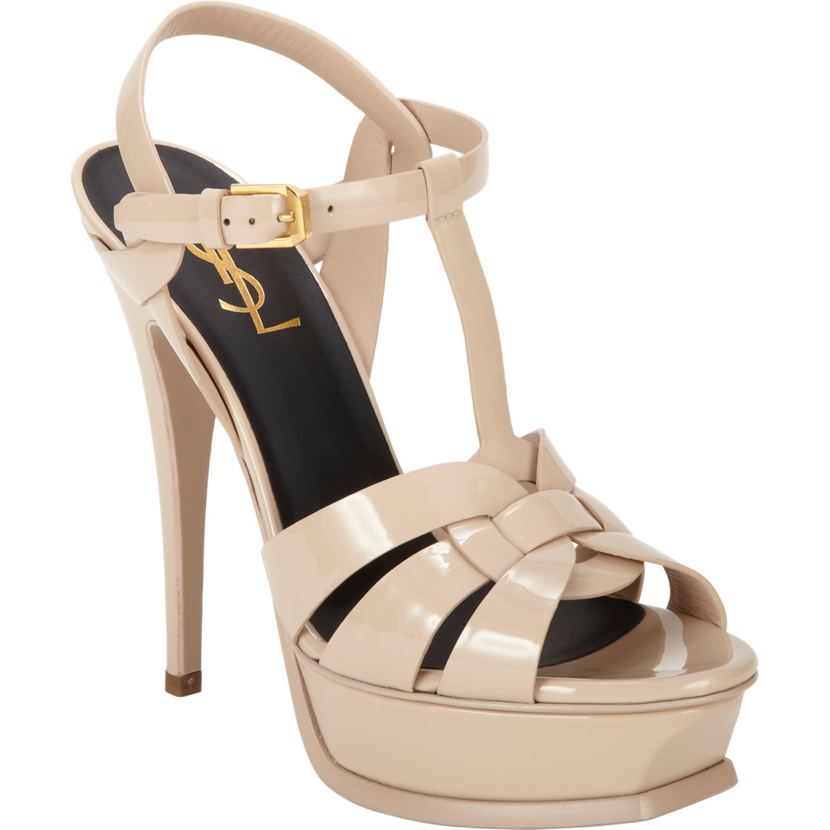 6337a0cc67a Saint Laurent's Tribute sandals – and the Tribtoo too | High Heels Daily