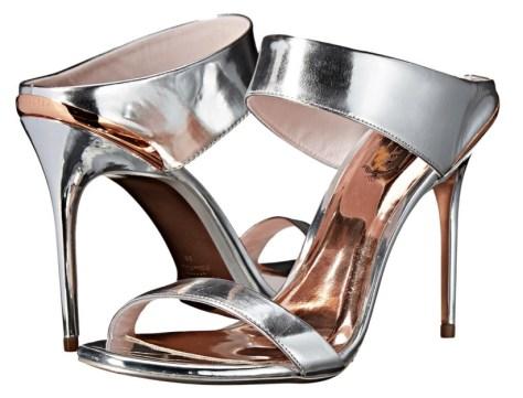 Ted Baker metallic mules