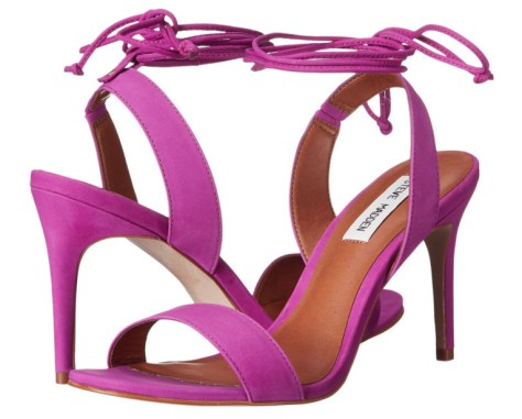 purple open-toed high heeled sandals