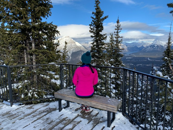 The view from Sulphur mountain winter