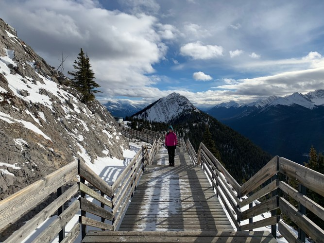 walkways at the top of sulphur mountain
