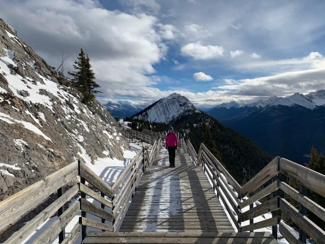 walkways at the top of sulphur mountain