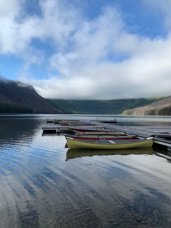 Cameron Lake in the morning