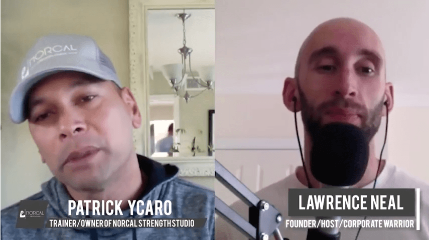 Corporate Warrior's Lawrence Neil being Interviewed by NorCal Strength Studio's Patrick Ycaro