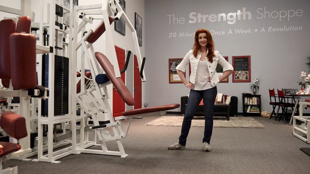 Melinda Hughes at the Strength Shoppe in Pasadena