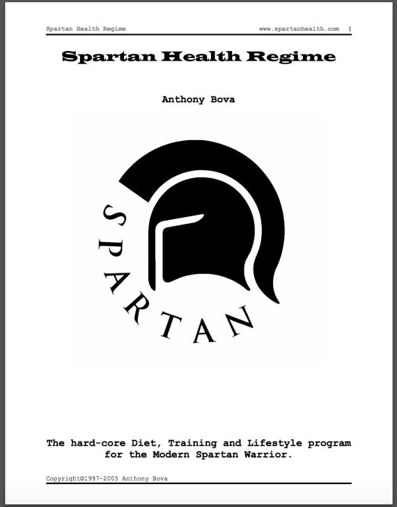 Spartan Health Regime by Anthony Bova