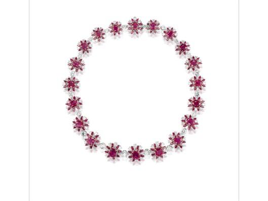 Burmese ruby necklace 2.001