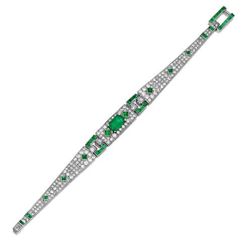 Cartier emerald bracelet
