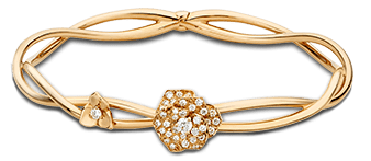 Piaget Rose bracelet in 18K rose gold, set with 40 brilliant-cut diamonds (approx. 0.50 ct).