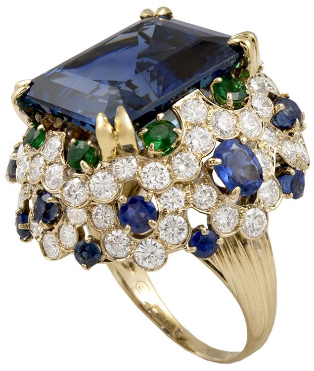 VAN CLEEF & ARPELS Sapphire Diamond Emeral Ring