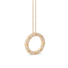 Roberto Coin Pois Moi necklace, yellow gold with diamonds (1,26ct).