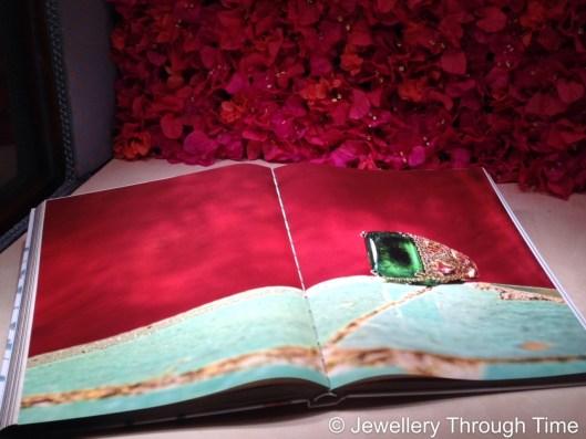 The book Capri Jewels open on display.