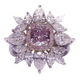 Fancy Pink Purple Diamond Ring