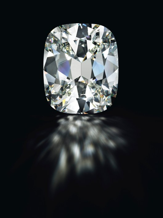 A cushion-shaped diamond of 80.73 carats. Estimate $4,000,000 - 5,000,000.