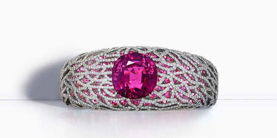 Rubellite bracelet
