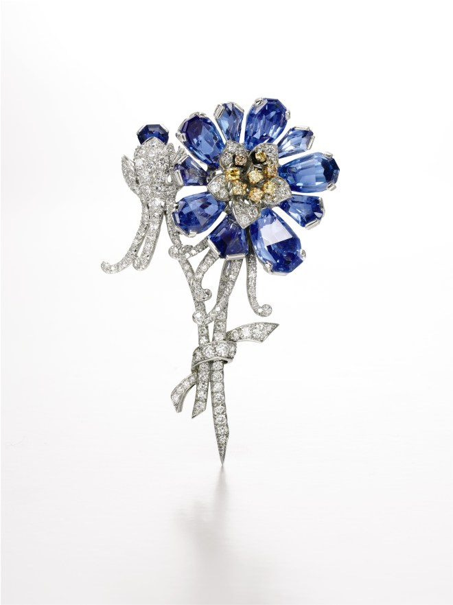 Lot 191  - Saphhire and Diamond Brooch