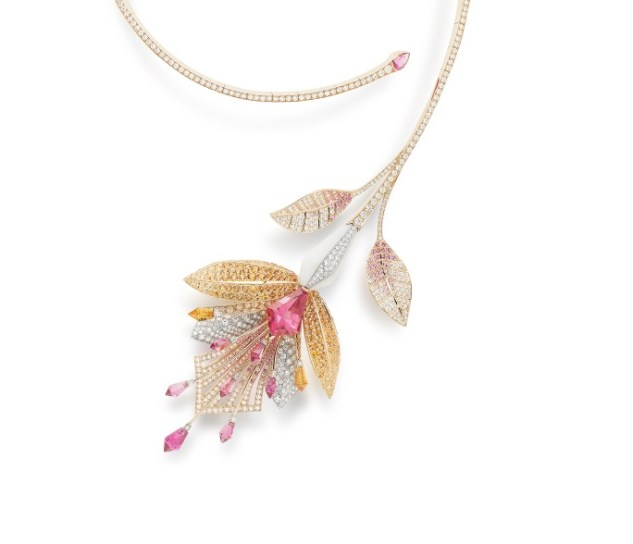 Boucheron, Fleur de Lotus Necklace. Bleu de Jodhpur High Jewellery Collection.