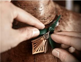 Boucheron Fleur de Lotus necklace in the making.