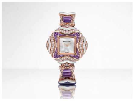 Geomtries of Time timepiece. Bulgari, Giardini Italiani High Jewellery Collection.