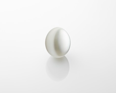One white cultured pearl.