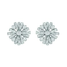 """Attirante"" earrings in 18K white gold set with 2 brilliant-cut diamonds for a total weight of 1 carat, 8 cushion-cut diamonds for a total weight of 3.3 carats, 48 square-cut diamonds for a total weight of 3.8 carats, 112 brilliantcut diamonds for a total weight of 2.5 carats and 2 baguette-cut diamonds. CHANEL Joaillerie"