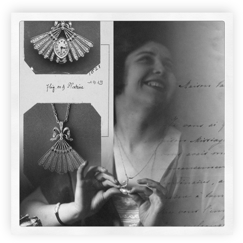 1919 ladies' pendant watch - Heure Discrète inspiration