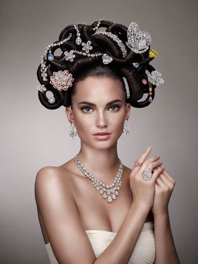 The 2013 update of Hair and Jewel featured $500m worth of rare and valuable diamonds. Photographer's Credit: David Slipper.