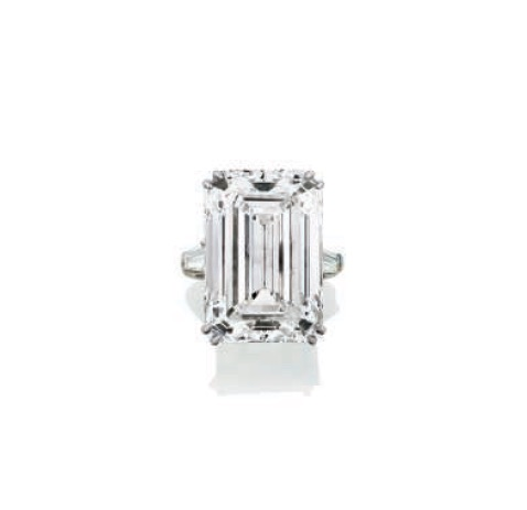 A diamond ring by Harry Winston.