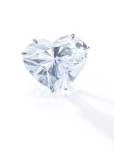 A Diamond pendant, D colour, the highest possible grading for diamonds. Weight: 53.53 carats. Estimate: 4,700,000-6,000,000.