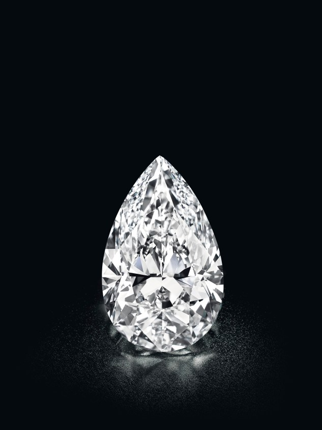 A D colour internally flawless diamond ring set with a pear brilliant-cut diamond, weighing circa 50.48 carats. Estimate upon request.