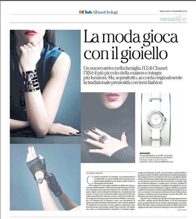 Клаудиа Карлетти Шанель J12-XS La Repubblica