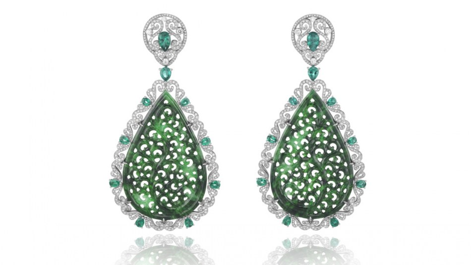 Haute Joaillerie Jade Earrings