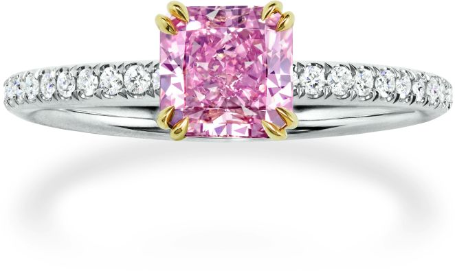 Harry Winston Pink Sapphire and Diamond ring