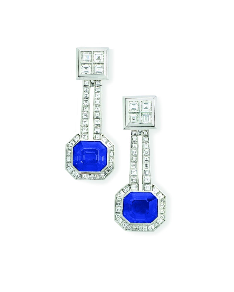 sapphire earrings christies