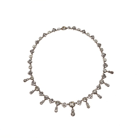 Faraone Casa d'Aste: Silver and Diamond Necklace