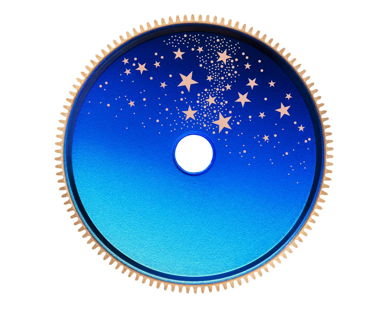Lange 1 Moon Phase celestial disk details