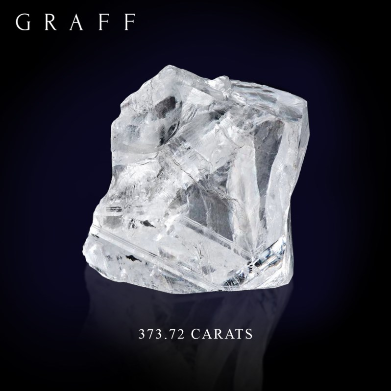 Graff 373.72 Carat rough diamond