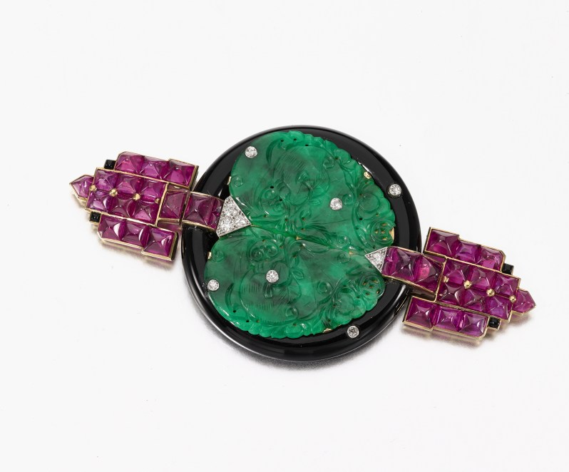 Lot 362- Mona Bismarck Cartier brooch - Sotheby's Geneva 16 May 2017