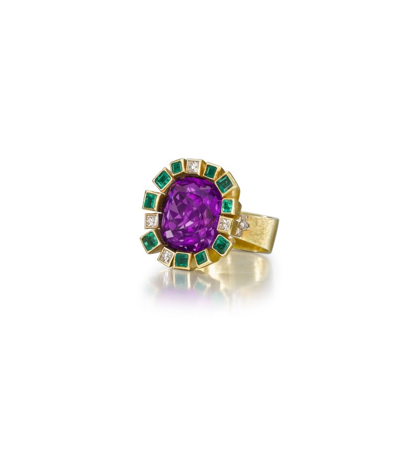 Amethyst ring by Andrew Grima
