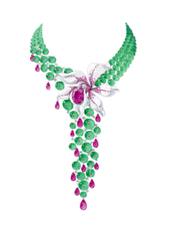 CARESSE D'ORCHIDEE NECKLACE - 2005