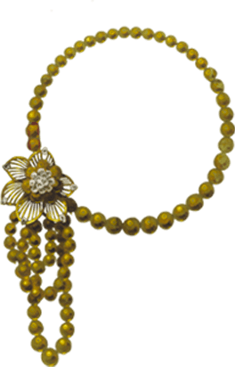BUTTERCUP MOTIF NECKLACE - 1951