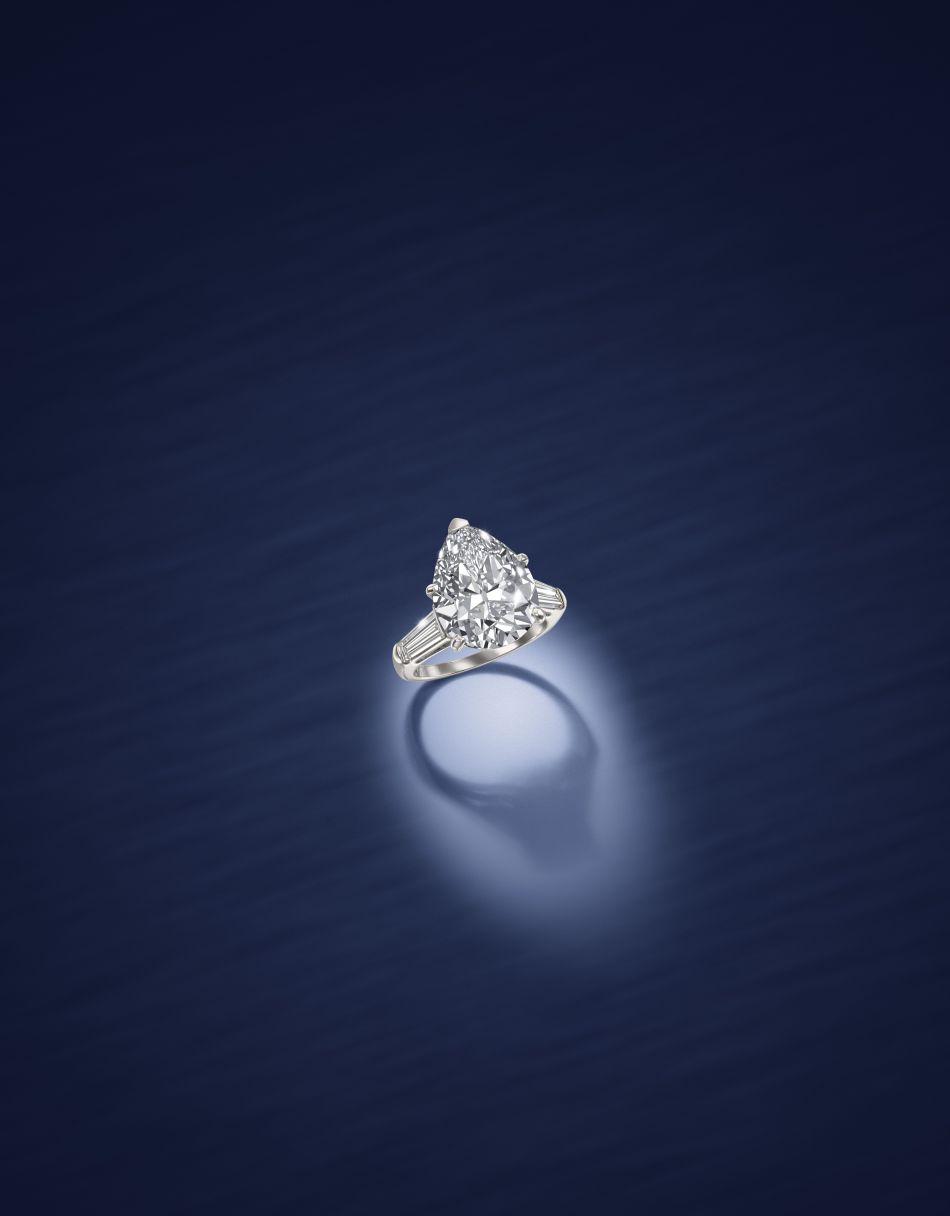A Diamond Single-Stone Ring (6.53 carats). Lot 120
