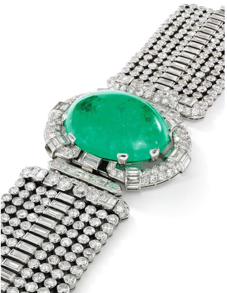 Emerald and Diamond Bracelet centre Sotheby's Magnificent Jewels & Noble Jewels Geneva May 15 2018