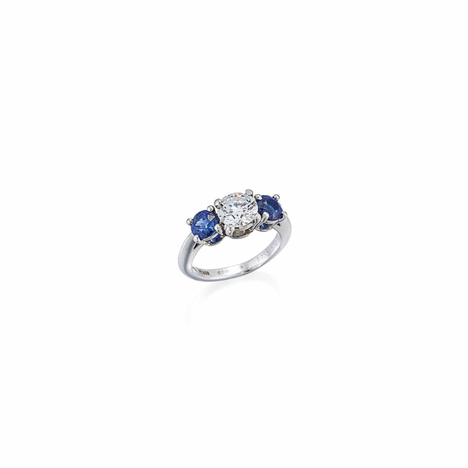 Lot 126 (platinum_sapphire_and_diamond_ring_tiffany_co)